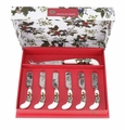 Portmeirion Holly & Ivy Cheese Knife & 6 Spreaders