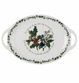 Portmeirion Holly & Ivy Oval Handled Platter