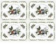 Portmeirion Holly & Ivy Placemats Set (4 Motifs)