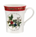 Portmeirion Holly & Ivy Red Border Mandarin Mug