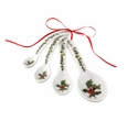 Portmeirion Holly & Ivy Set of 4 Measuring Spoons