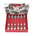 Portmeirion Holly & Ivy Tea Spoons Set of 6