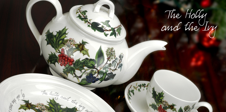 Portmeirion Holly and Ivy Christmas Holiday Dinnerware