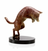 Pouncing Coyote Sculpture by SPI Home