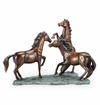 Prairie Dance Horse Trio Sculpture by SPI Home