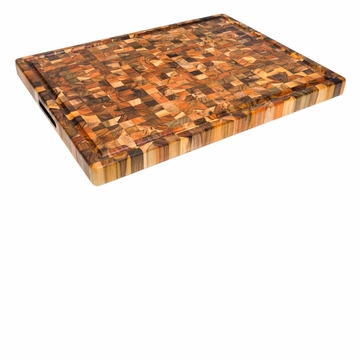 Proteak Cutting Board with Hand Grip & Juice Canal 24X18X1.5