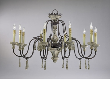 Provence 10 Light Wrought Iron Chandelier by Cyan Design