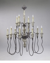 Provence 12 Light Wrought Iron Chandelier by Cyan Design