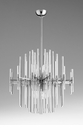 Quebec Satin Six Light Pendant by Cyan Design