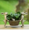 Rabbit Family Planter Holder by SPI Home
