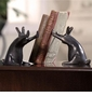Rabbit Pushing Books Bookends by SPI Home