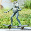 Radical Skateboarding Frog Garden Sculpture by SPI Home