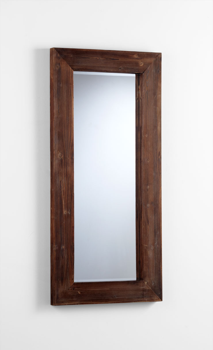 Ralston rectangular wood wall mirror by cyan design for Wall mirror design