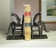 Reader Bookends Bronze Iron Home Decor