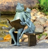 Reading Frog Family Garden Sculpture by SPI Home