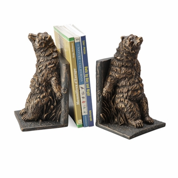 Reclining Bear Resin Bookend Pair by SPI Home
