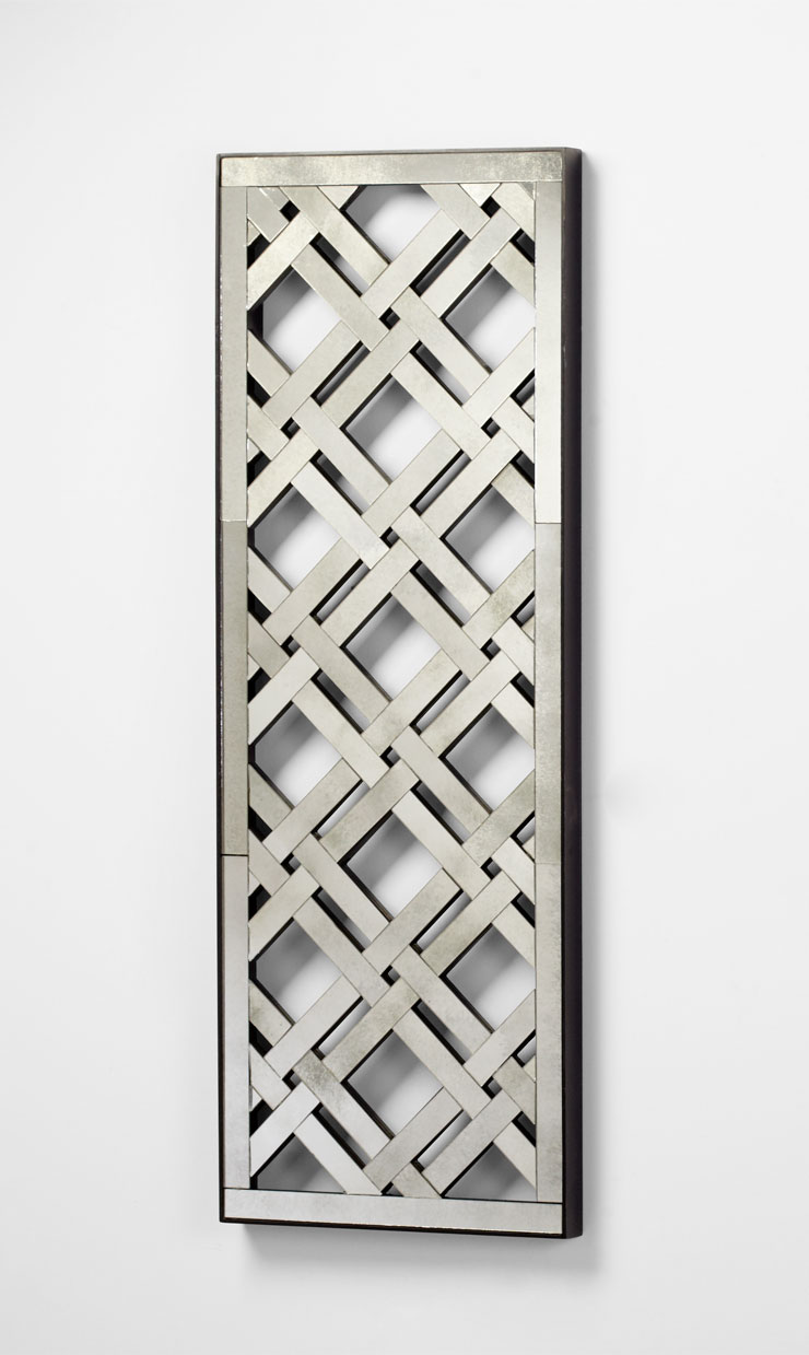 Rectangular mirorred lattice wall decor by cyan design amipublicfo Image collections