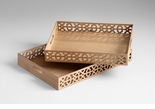 Rectangular XOXO Wood Trays by Cyan Design