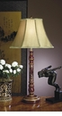 Red Asian Wood Lamp Home Decor