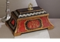 Red/Black Covered Wooden Box Home Decor