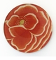 Red Poppy Decorative Glass Coaster by Working Title