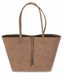 Remi & Reid Departure Tote in Linen Texture - Olive/Olive