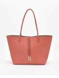 Remi & Reid Departure Tote with Crossbody Linen Texture Apricot / Sand