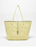 Remi & Reid Departure Tote Perforated Pale Yellow / Nude