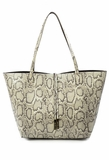 Remi & Reid Departure Tote with Crossbody Snake Natural / Bronze