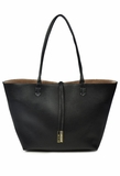 Remi & Reid Departure Tote with Crossbody - Black/Champagne