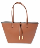 Remi & Reid Departure Tote with Crossbody - Camel/Stone