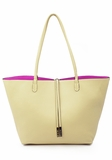 Remi & Reid Departure Tote with Crossbody - Cream/Fuchsia