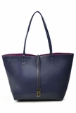 Remi & Reid Departure Tote with Crossbody - Navy/Magenta