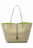 Remi & Reid Departure Tote with Crossbody - Taupe/Lime