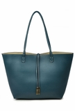 Remi & Reid Departure Tote with Crossbody - Teal/Taupe
