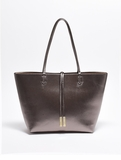 Remi & Reid Departure Tote with Crossbody Anthracite / Champagne