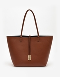 Remi & Reid Departure Tote with Crossbody Camel / Navy