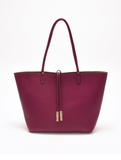 Remi & Reid Departure Tote with Crossbody Magenta Pink / Taupe