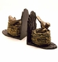 Resin & Cast Iron Bird & Nest Bookends by SPI Home