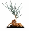 Resting Stag Sculpture by SPI Home