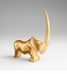 Rhino Bay Iron Sculpture - Gold Leaf by Cyan Design