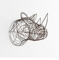 Rhino Iron Wire Wall Decor by Cyan Design