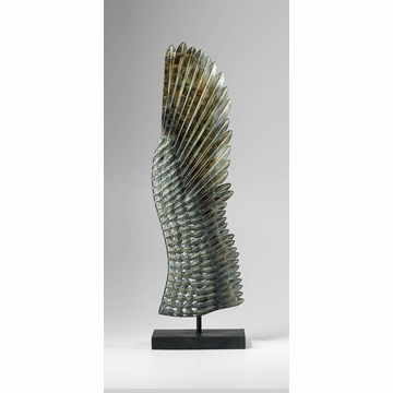 Right Bird Wing Iron Statue by Cyan Design