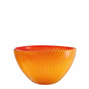 Rosenthal Yellow and Red 9.5 inch Bowl