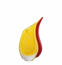Rosenthal Yellow and Red 9.5 inch Dewdrop Vase