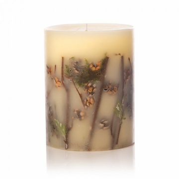 Rosy Rings Forest 5'' Tall Round Botanical Candle