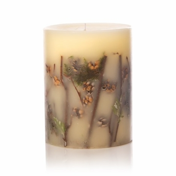 Rosy Rings Forest 6.5'' Tall Round Botanical Candle
