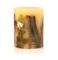 "Rosy Rings Oak Moss & Myrrh 6.5"" Tall Round Botanical Candle"