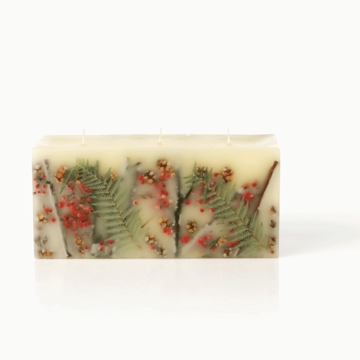 Rosy Rings Red Currant and Cranberry 3 Wick Brick Botanical Candle