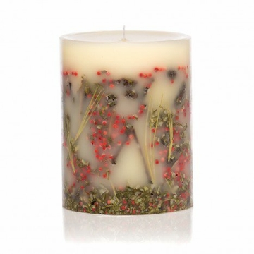 Rosy Rings Red Currant & Cranberry 9'' Tall Big Round Botanical Candle